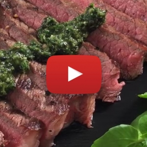 Video recipe: Saucy Baby Watercress & Succulent Steaks